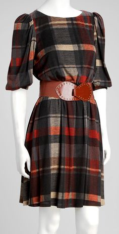 Cute dress for fall. Just add scarf and tights.