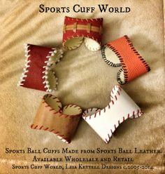 Sports Cuff World, Sports Cuffs from SCW, Lisa Kettell Designs c.2005-2014