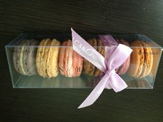 Sweeten your day with a box of 6 perfectly made macarons!