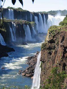 Iguazu falls, from Argentina Beautiful Nature Wallpaper, Beautiful Landscapes, Iguazu Waterfalls, Iguazu National Park, Landscape Photography, Nature Photography, Iguazu Falls, Les Cascades, Beautiful Waterfalls
