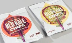 LovingEarth // Red & Yellow Kale Chips #packaging