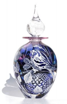 Art-Glass Perfume Bottle by  'JonathanHarrisGlassStudio' ♥≻★≺♥