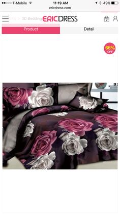 ericdress flowers 4 piece cotton bedding sets | beddings