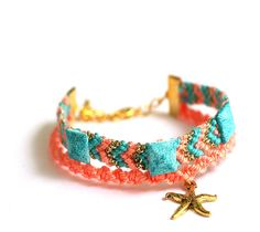 Starfish Friendship Bracelet by makunaima on Etsy, $17.90