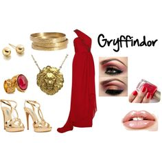 Gryffindor Ball, created by acciousername on Polyvore