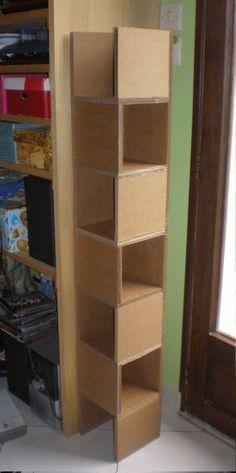 Cool 54 Trendy Diy Cardboard Crafts Design Ideas To Try In Your Decor Cardboard Organizer, Diy Cardboard Furniture, Cardboard Storage, Cardboard Box Crafts, Cardboard Design, Diy Storage, Diy Furniture, Furniture Buyers, Diy Organization