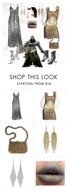 """medieval date💋 chain mail dresses"" by sjoberty-sj ❤ liked on Polyvore featuring Monika Chiang, Paco Rabanne and NOVICA"