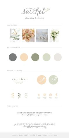 Brand Reveal: Satchel Planning and Design | August + White Branding Services | Brand Board | Wedding Planner Brand | Website Design