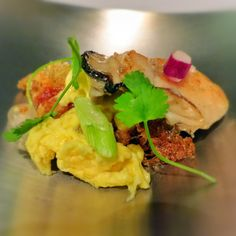 Singapore Street Food Inspired dish (Oyster Omelette) at Iggy's Restaurant, Singapore