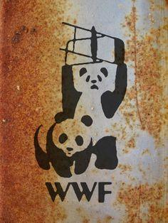 WWF Panda Banksy Graffiti Image 000 #WWF #Banksy #StreetArt