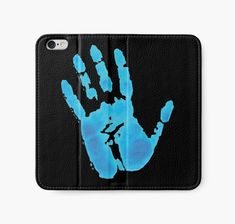 """Neon Hand"" iPhone Wallets by wowarts 