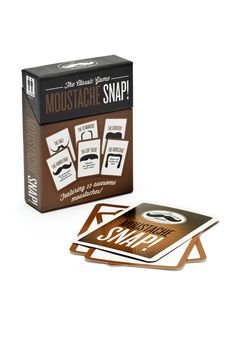 The Moustache Club Snap Card Game - probably handy for drinking