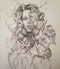 This sketch is amazing By My collection of cool/in. This sketch is amazing By My collection of cool/interesting/inspirational artwork and Tattoo Sketches, Tattoo Drawings, Drawing Sketches, Pencil Drawings, Art Drawings, Pencil Art, Drawing Ideas, Nature Tattoos, Body Art Tattoos