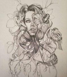 Wild Art Drawings Sketches, Tattoo Sketches, Tattoo Drawings, Pencil Drawings, Nature Tattoos, Body Art Tattoos, Sleeve Tattoos, Inspirational Artwork, Natur Tattoo Arm