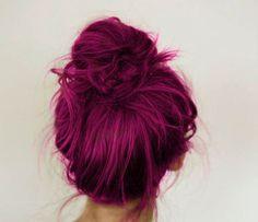 Wine coloured hair