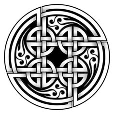 Another Pictish Knotwork design, this is from St Vigeans, in Perthshire. Acrylic on canvas board, by Norse Tattoo, Celtic Tattoos, Viking Tattoos, Vikings, Pagan Symbols, Celtic Knot Designs, Celtic Patterns, Viking Art, Triquetra