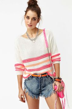 Neon Stripe Knit | Shop What's New at Nasty Gal