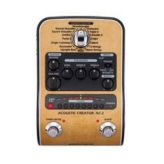 Zoom AC-2 Acoustic DI Box Effects Pedal New!
