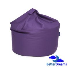 Sink down into this large purple bean bag. This cool and stylish 100% cotton beanbag, is great for gaming, reading, relaxing, or just as extra seating.   Comfy, cool and stylish, this is a really cool looking beanbag.  Features:  Size: H:80cm x W:60cm x D:60cm 6 Cubic Foot   Quality 100% Cotton   Light and easy to transport.   Contains non-flatten beans which keep the shape of the bean bag for longer.   Product is fire retardant and meets 1988 Fire Regulations.