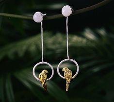 UK 925 Sterling Silver 3D Parrot Dangle Stud Earrings Jewellery Natural Handmade  | eBay Stuffed Animal Patterns, Dangle Earrings, Arrow Necklace, Dangles, Christmas Gifts, Sterling Silver, Handmade, Ebay, Jewelry