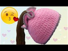 Gorro Coletero Tejido a Crochet para niñas 👧 - YouTube Crochet Beanie, Knitted Hats, Crochet Hats, Crochet Earrings Pattern, Baby Socks, Knitting Socks, Bandana, Knitting Patterns, Minnie Mouse