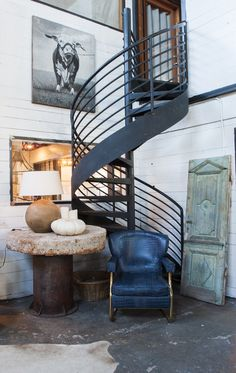Mountain Modern with custom furniture and beautiful antiques. Big Daddy's Antiques. http://www.bdantiques.com/