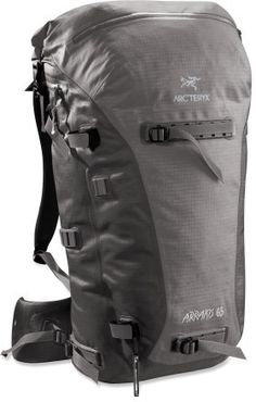 Arc'teryx Arrakis 65 - Weather resistant and seam-sealed, durable backpack, ideal for skiing, cragging and hiking. Backpacking Gear, Camping Survival, Hiking Gear, Camping Gear, Survival Mode, Rucksack Backpack, Hiking Backpack, Adventure Gear, Waterproof Backpack
