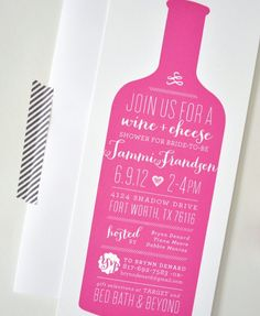 #Wine and #Cheese Party Invitations