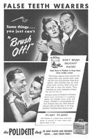 Polident False Teeth Cleanser 1946 Ad Picture
