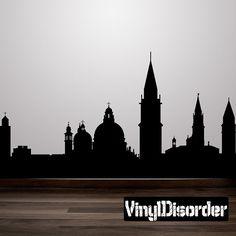 Venice Italy Skyline Vinyl Wall Decal or Car by VinylDisorder