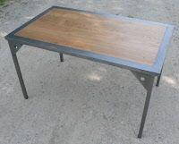 table haute metal et bois avec rallonges