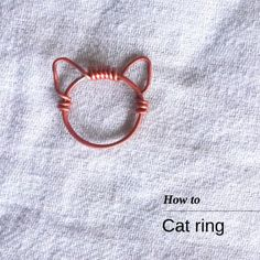 DIY Wire Cat Ring Tutorial from Bead It More
