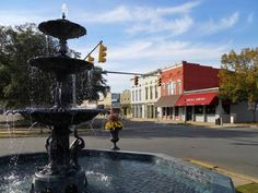 """The MacMonnies Fountain in downtown Eufaula 