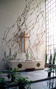 resurrection chapel  altar || Turku, Finland