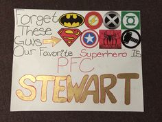 Military homecoming sign! My solider is my superhero. My very own pin worthy creation!