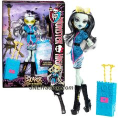 Mattel Year 2012 Monster High Scaris City of Frights Deluxe Series 11 Inch Doll - Frankie Stein with Suitcase, Sunglasses, Hairbrush and Doll Stand