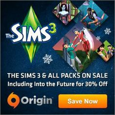 Massive sale on Origin! 30% off The Sims 3 Into the Future and up to 60% off on other The Sims 3 Expansion and Stuff Packs. Also 10% off SimCity Cities of tomorrow!