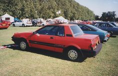 1985 Nissan Pulsar. My first car, and red too! All my friends had Chevettes and Escorts...I thought I'd be exotic and go foreign!