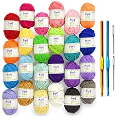 If you use yarn, here's a great deal! Grab the Premium Value Yarn Pack - 24 Acrylic Yarn Skeins - Assorted Colors - Perfect for Any Crochet and Knitting Mini Project - Resealable Bag - 10 GIFTS with Each Pack for just and get FREE ship. Crochet Bunny, Cute Crochet, Crochet Yarn, Crochet Kits, Crochet Daisy, Afghan Crochet, Chunky Crochet, Chunky Yarn, Crochet Motifs