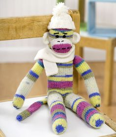 Red Heart Sock Monkey