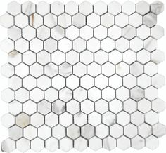 "Calacatta Gold Italian Marble 1"" Hexagon Mosaic Honed4 Reviews   Item #CGH-1X1-HEXRegular Price:$49.50Starting at:$17.95"