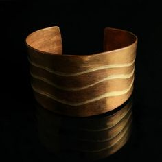 WAVE - COPPER AND BRONZE CUFF BRACELET - Nature Inspired Handcrafted Copper Jewelry Collection by Jewel of Havana Jewelry Artist, Ana Maria Andricain - http://www.jewelofhavana.com/store/c18/Copper_Jewelry_Collection.html