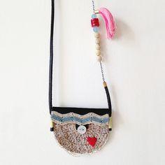 crochet mini pouch necklace
