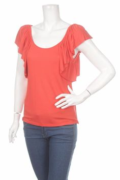RALPH LAUREN WOMEN'S SUMMER RUFFLE TOP ORANGE Size M BRAND NEW with TAGS BNWT #RalphLauren #TopTankCami #Casual