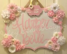Items similar to Fancy Floral Hospital Door Hanger on Etsy Hospital Door Baby, Hospital Door Hangers, Baby Door Hangers, My Baby Girl, Baby Love, Everything Baby, Little Girl Rooms, Baby Decor, Girl Nursery