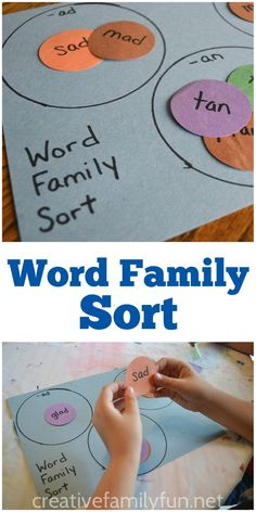 Help your child practice word families with this easy-to-make word family sort game.