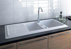 built in ceramic kitchen sinks duravit cassia duraceram 2 Built in Ceramic Kitchen Sink by Duravit   new Cassia
