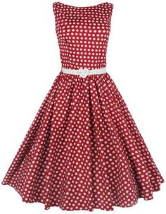 $47 Lindy Bop Classy Vintage Audrey Hepburn Style 1950s Rockabilly Swing Evening Dress from Amazon