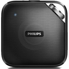 """""""The Philips BT2500B-37 Compact Wireless Portable Bluetooth Speaker is an undoubtedly considered as a micro portable speaker because of its compact and slim design that just fits perfectly into backpacks and pockets. Considering its size, this portable Bluetooth speaker features a relatively decent sound quality, easy connectivity options, as well as a speakerphone capability."""" - portablespeakersreviews.com 