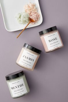 French Girl Organics Sea Polish Gift Set by in Assorted Size: All, Sets at Anthropologie Ylang Ylang Flower, Hipster Gifts, Body Polish, Jasmin, Organic Coconut Oil, Lavender Oil, Shea Butter, Perfume Bottles, Anthropologie